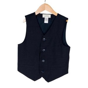 Janie & Jack Black Special Occasion Vest